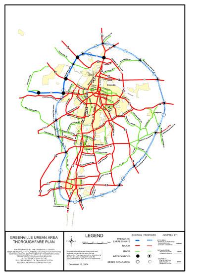Greenville Urban Area Thoroughfare Plan Greenville Nc