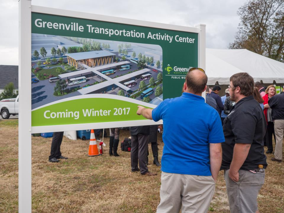 City Breaks Ground on Greenville Transportation Activity Center
