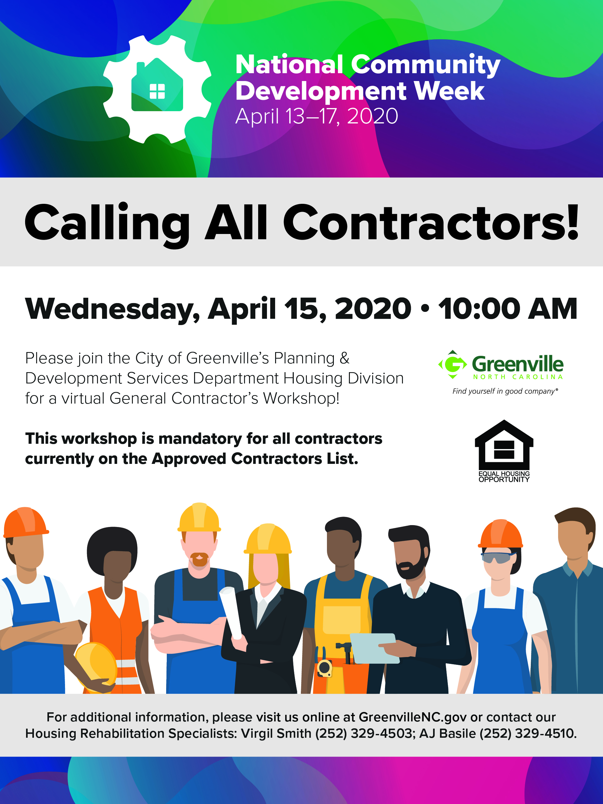 Contractors Workshop flyer