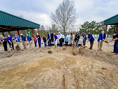 Group breaking ground at Wildwood Park
