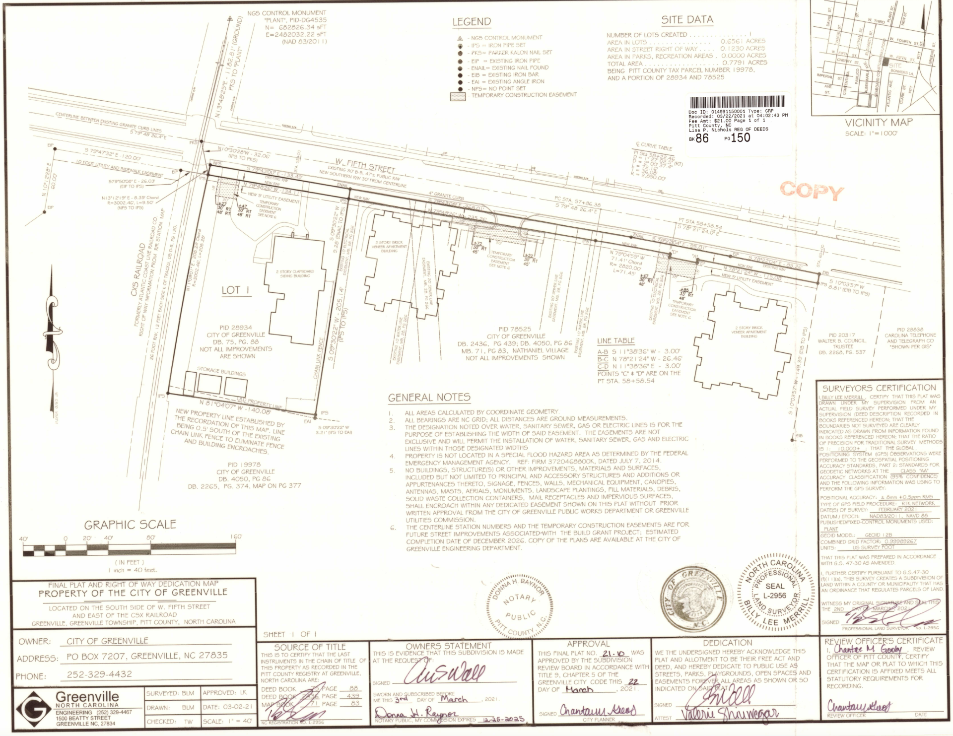 431 West Fifth Map of property