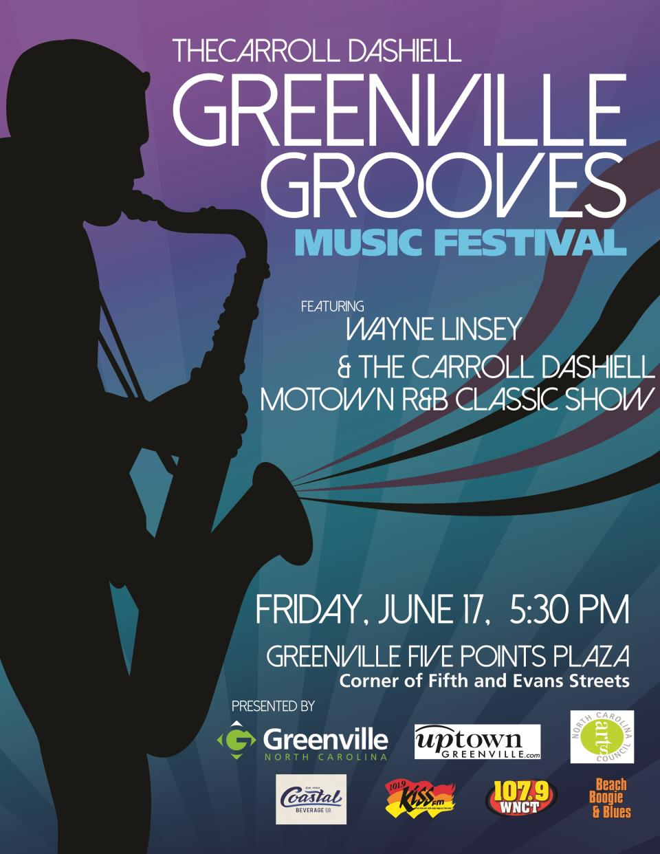 Greenville Grooves Poster NEW 2016