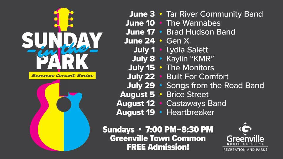 Sunday in the Park Schedule