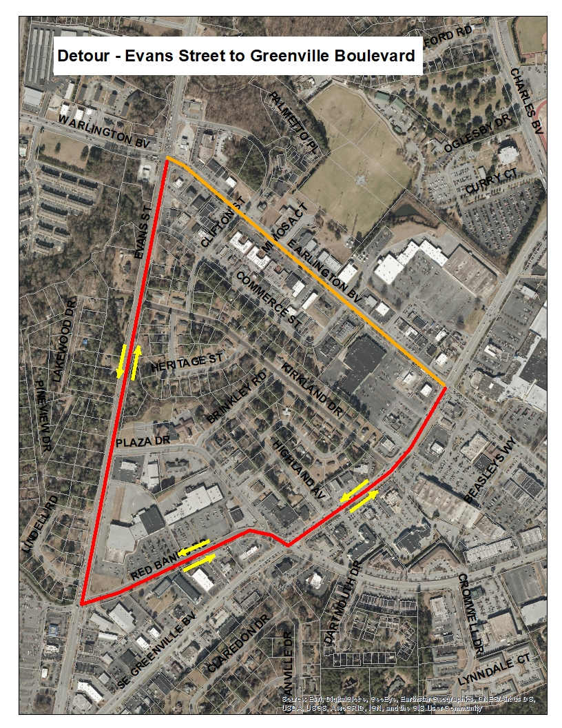 Arlington Detour - Evans to Greenville