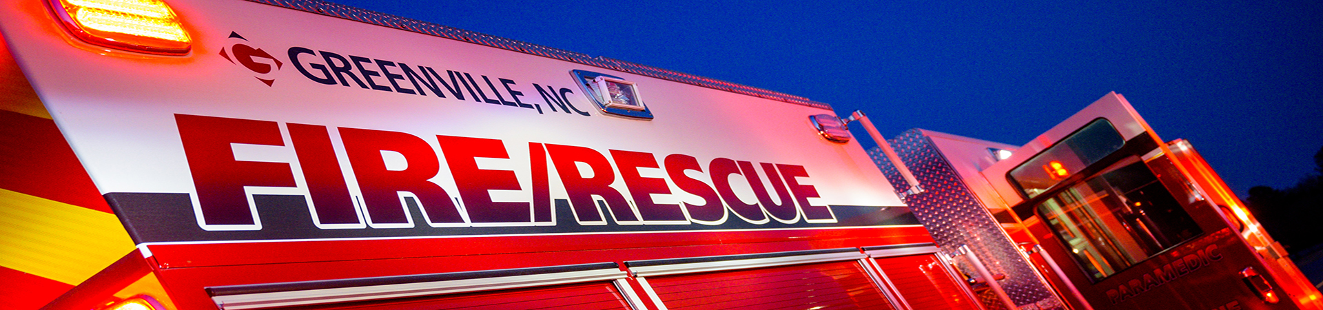 Fire Rescue Truck Banner Image