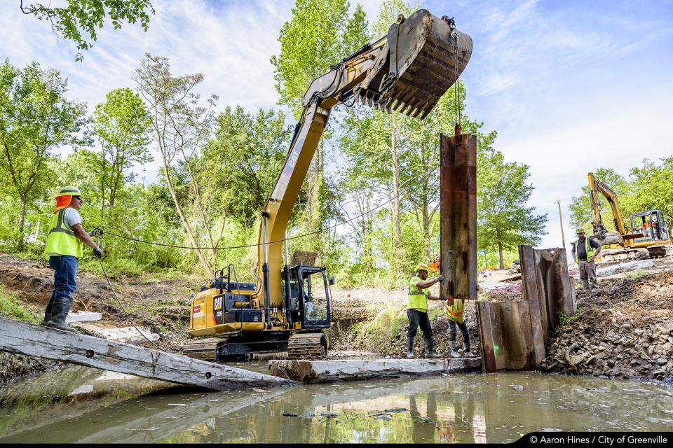 Town Creek Culvert construction